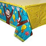 "Unique Universal Curious George Plastic Tablecloth, 84"" X 54"""