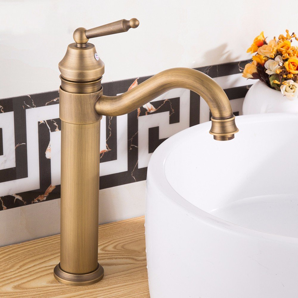 9 Hlluya Professional Sink Mixer Tap Kitchen Faucet Copper basin, redation, cold and hot, Single Hole Sink mixer 9