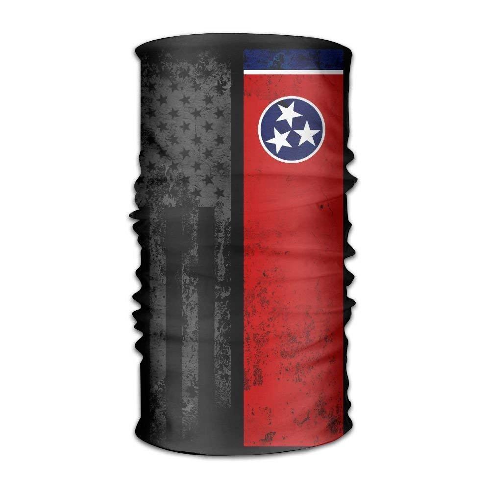 Women Men Headwear Bandanas Wrap Scarf Headscarf,Sweat Wicking Headbands Bandana USA Tennessee State Flag Liner Head