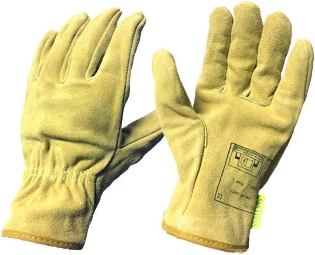 Guantes de jardinería de cuero resistente a la perforación de ...