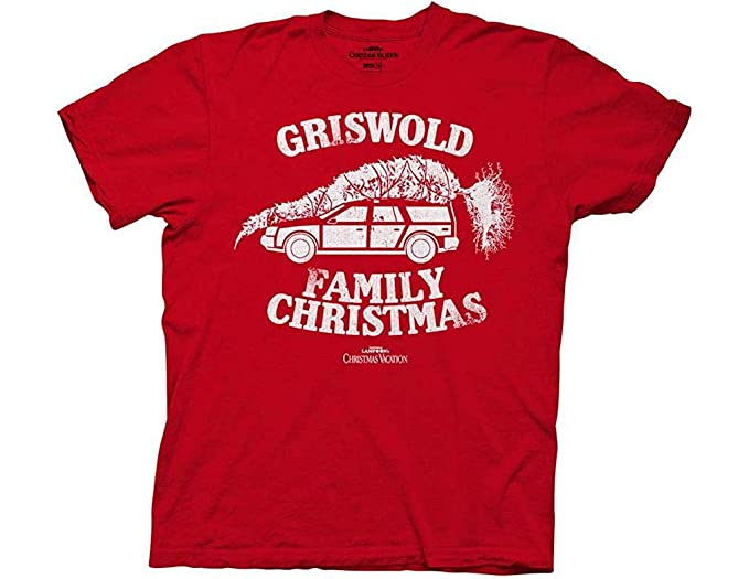 02f457fb573 Amazon.com  Christmas Vacation Griswold Family Christmas Red Adult T ...