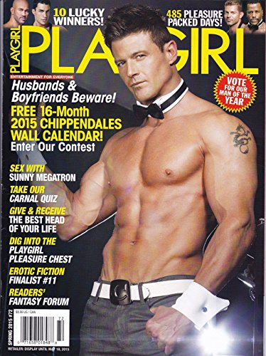 New Playgirl Magazine #72 Spring 2015 Nude + 16 Month 2015 Chippendale Calendar Naked Gay Mens