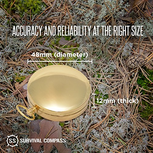 Best Camping Survival Compass | Glow in the Dark Military Compass | Highest Quality Survival Gear Compass