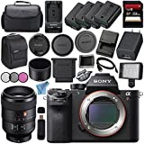 Sony ILCE7RM2/B Alpha a7R II Mirrorless Digital Camera (Body Only) + Sony FE 100mm f/2.8 STF GM OSS Lens SEL100F28GM + 256GB SDXC Card + NP-FW50 Lithium Ion Battery + External Rapid Charger Bundle
