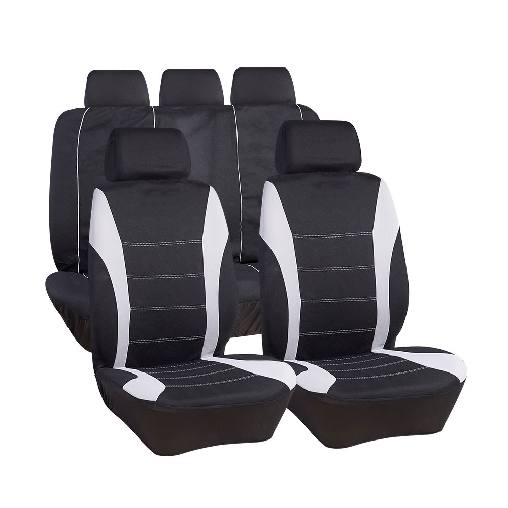 UR URLIFEHALL BLACK with BLUE Universal Fit Cotton SET Seat Cover(9 pcs,Fit Most Car, Truck, Suv, or Van)