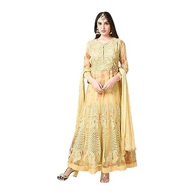 Amazon.com: Funda ceremonia de boda floor-length Anarkali ...