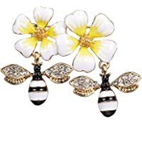 Sweet Flower & Honeybee Broaches Cute Bee Jewelry Clothes Scarf Bag Accessories