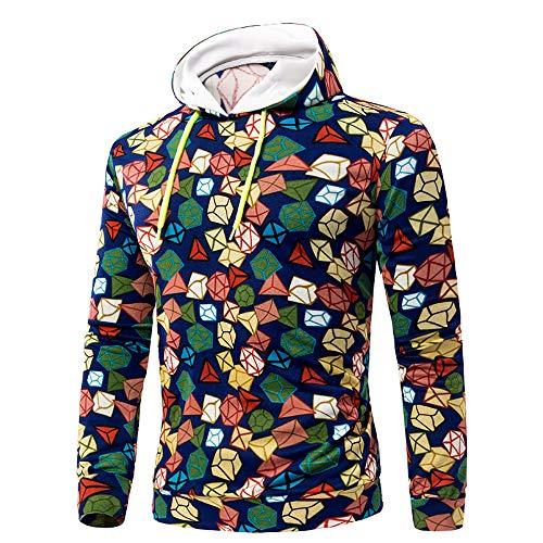 Men's Long Sleeve Printe Hoodie Hooded Sweatshirt Top Outwear Blouse Boys' Performance Printed Hoodie by Sinzelimin Men's Top