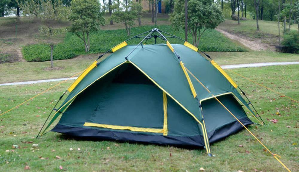 Lxj Outdoor-Zelt 3-4 Personen im Freien automatische Zelt Double Anti-Regen zweitürig Mehrpersonen Camping Camping Geschwindigkeit offen frei b Uild 230  210  h130cm