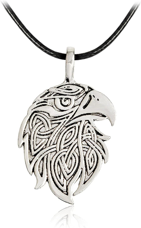 PuuuK Viking Viking Series Fox Wolf Eagle Colgante Collar Accesorios De Regalo para Hombres Y Mujeres,A