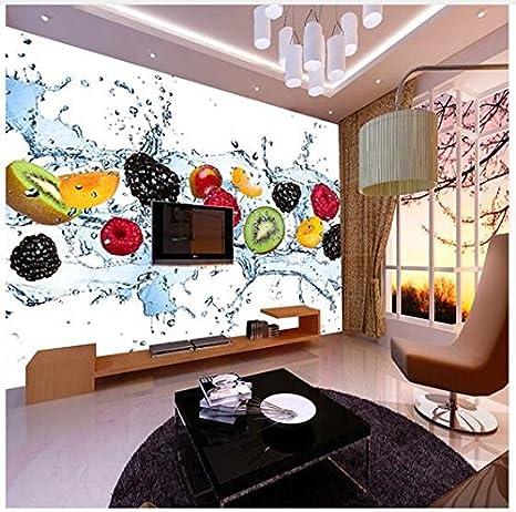 200cmx140cm Custom 3d Grande Murale Negozio Di Frutta Frutta Tè