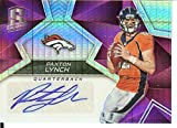 Football NFL 2017 Spectra Signatures Neon Pink #42 Paxton Lynch Auto 4/5 Broncos