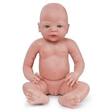 Vollence Muñeco Natural recién Nacido de 55 cm Que Parece Real. Libre de PVC. Similar a un bebé Real Lleno de Peso. Hecho a Mano. Muñecas bebé de ...