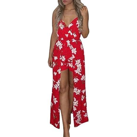 Yesmile 💋💝Vestido de Mujer Vestido de Estampado Vestido Elegante de Noche para Boda Fista