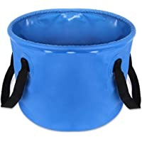 ELECTRFIRE Collapsible Bucket Compact 5 Gallon Portable Folding Water Container 20L Camping Water Storage Wash Basin for Traveling Hiking Fishing Boating Gardening Camping
