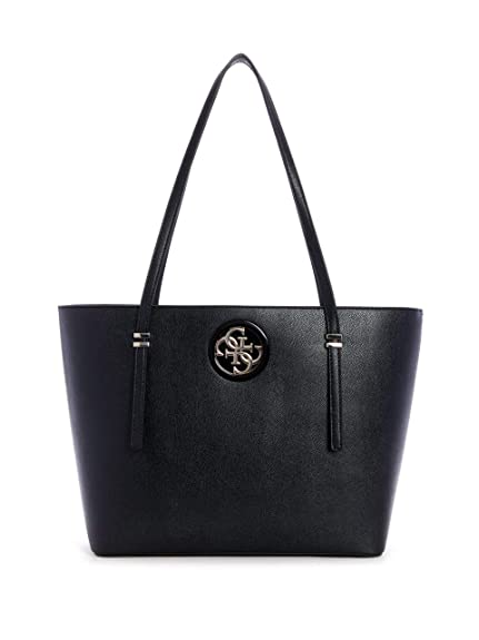 Guess - Open Road Tote, Mujer, Multicolor (Black), 40x27x12 cm (