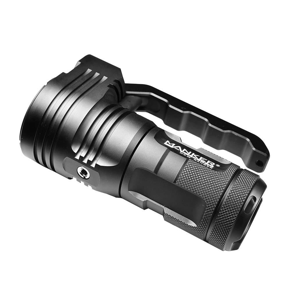 Manker MK39 Ranger 5000 Lumens CREE XHP35 HI + 8x Nichia 219C LED Flashlight (MK39 NW + 4 High Drain 2600mAh 18650 Batteries) - - Amazon.com