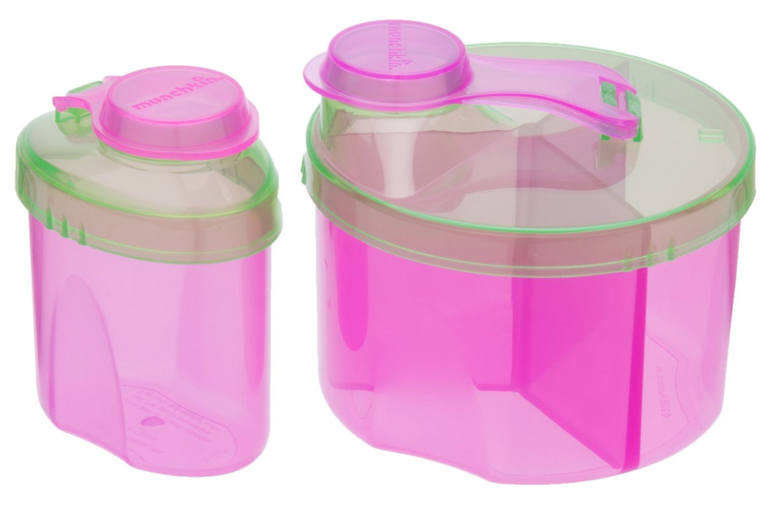 Munchkin Powdered Formula Dispenser Combo Pack, Pink