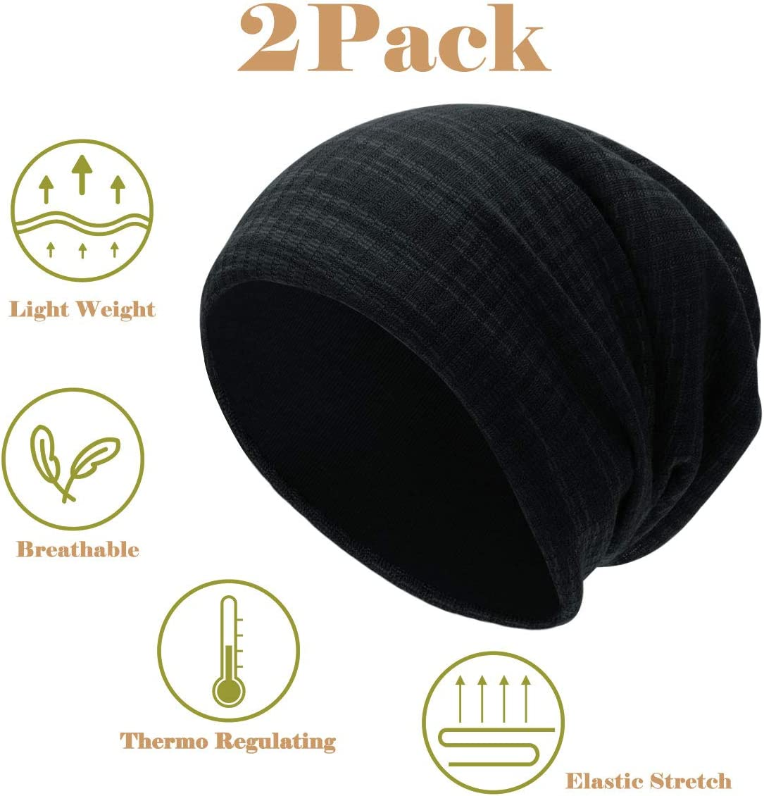 Jersey Skull Cap Winter Summer Hat Cotton Plain Slouch Baggy Long Thin Unisex NEOLA Beanie Hat