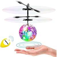LISOPO RC Flying Juguetes, Niños Música Flying Ball, Drone HelicóPtero Bola de vuelo Built-in Shinning Iluminación LED para Niños,RC Juguete para niños adolescentes