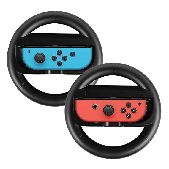 Joy-Con Wheel for Nintendo Switch [2-Pack], Game Racing Wheel Steering  Wheel Direction Wheel Joy-Con Remote Controller Handle Grips for Nintendo