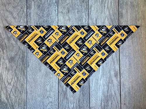 (Precious Paw Prints Boutique Pittsburgh Penguins Dog Bandana (Large: 14-20 inches))
