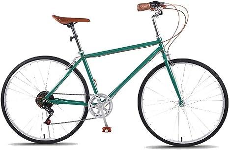 Ti-Fa Camino de la Bicicleta 7 Velocidad de 26 Pulgadas Bicicletas, Marco de Acero de Alto Carbono, para Hombre y Mujeres Adultos de sólo,Verde: Amazon.es: Deportes y aire libre