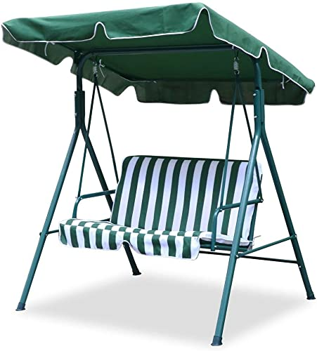 World Pride Garden/Backyard 2 Seater Cushioned Patio Swing,with UV Protected Canopy