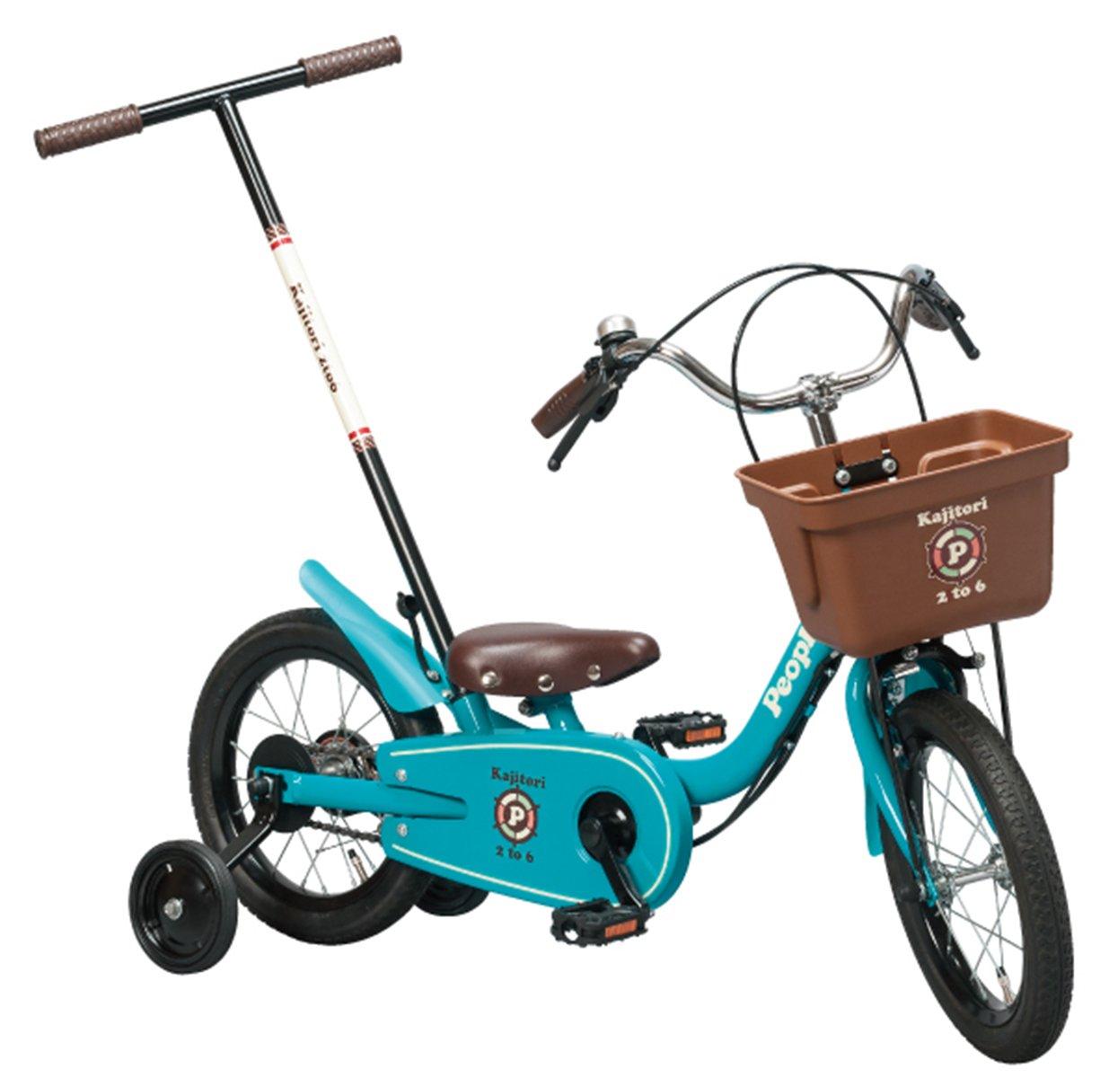 People(ピープル) いきなり自転車 かじとり式 14インチ B071LFH4BF ピュアターコイズ ピュアターコイズ