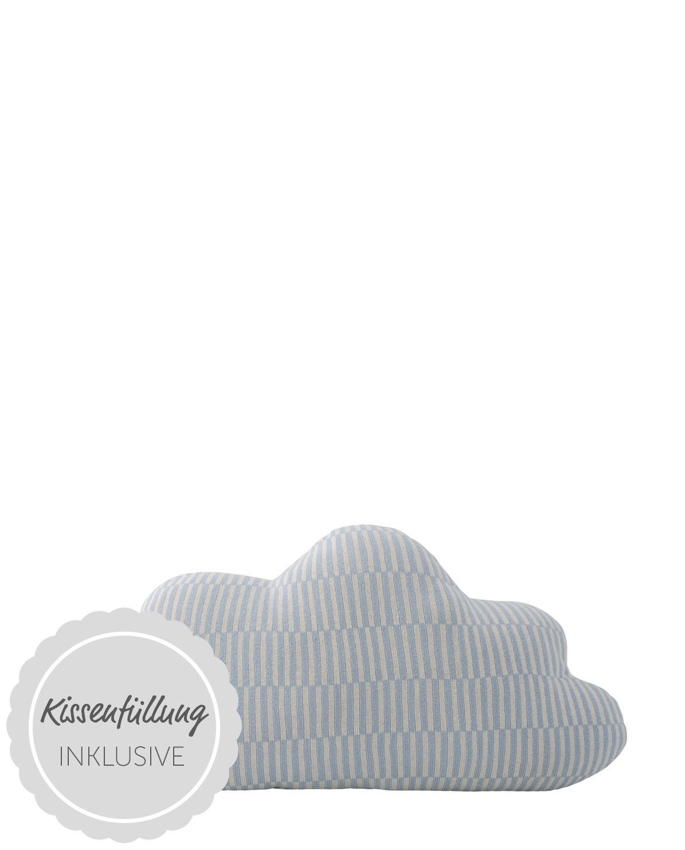 Bloomingville Cushion, Knitted, OffWeiß Blau Blau Blau H30xW50 cm [P] [W] b8cf88