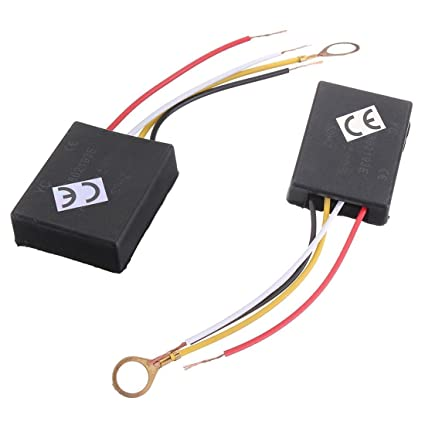 TOOGOO(R) 2 X 110V 3Way Light Touch Sensor Switch Control for Lamp on wiring lamp with night light, wiring a 2 bulb lamp, wiring a 3 way lamp,