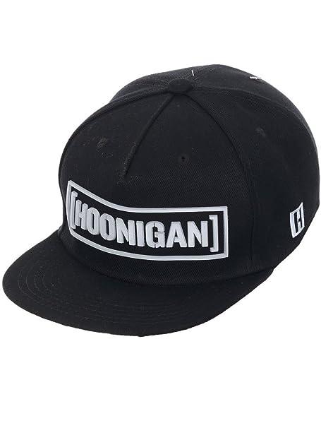 e2be01dc9 Hoonigan Men's Ultra Censor Bar Sonic Snapback Hat Black White ...
