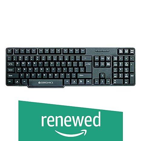 Renewed  Zebronics ZEB K11 USB keyboard  Black  Keyboards