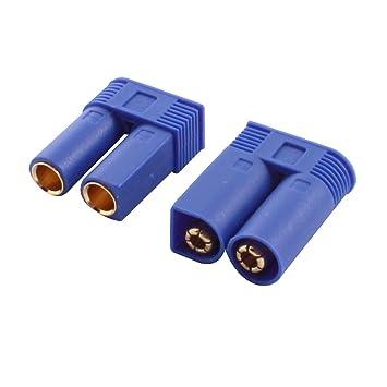 Sourcingmap - La batería lipo del rc del adaptador del cargador 100 a ec5 enchufe de 5 mm par de conectores m/f