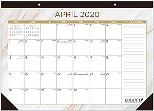 "Desk Calendar 2020-2021: Large Monthly Desk Pad Calendar for Planning & Organizing, 12 Months Desktop/Wall Calendar Runs from April 2020 to March 2021, 17"" x 12"""