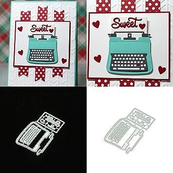 FEIDA - Máquina de escribir de metal troquelado tarjeta de repujado DIY álbum Scrapbooking Decor - Plata: Amazon.es: Hogar
