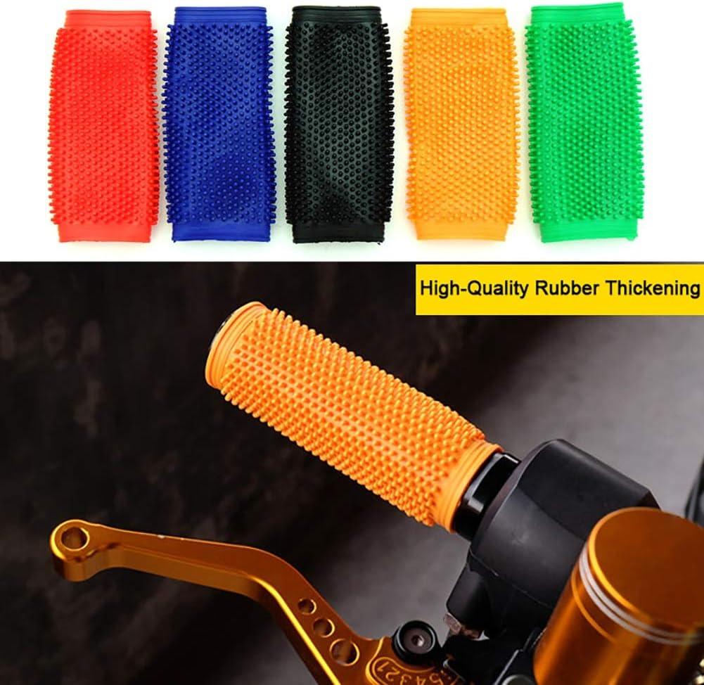 Mango de Goma 1 par de Motos Grips 30 mm Universal for Todos los manillares de 30mm manija de la Motocicleta Moto Bar apretones de Manillar Color : Black