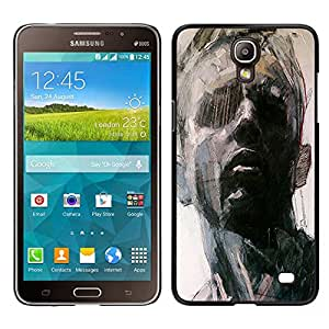 For Samsung Galaxy Mega 2 , S-type® Portrait Man Art Painting Think - Arte & diseño plástico duro Fundas Cover Cubre Hard Case Cover