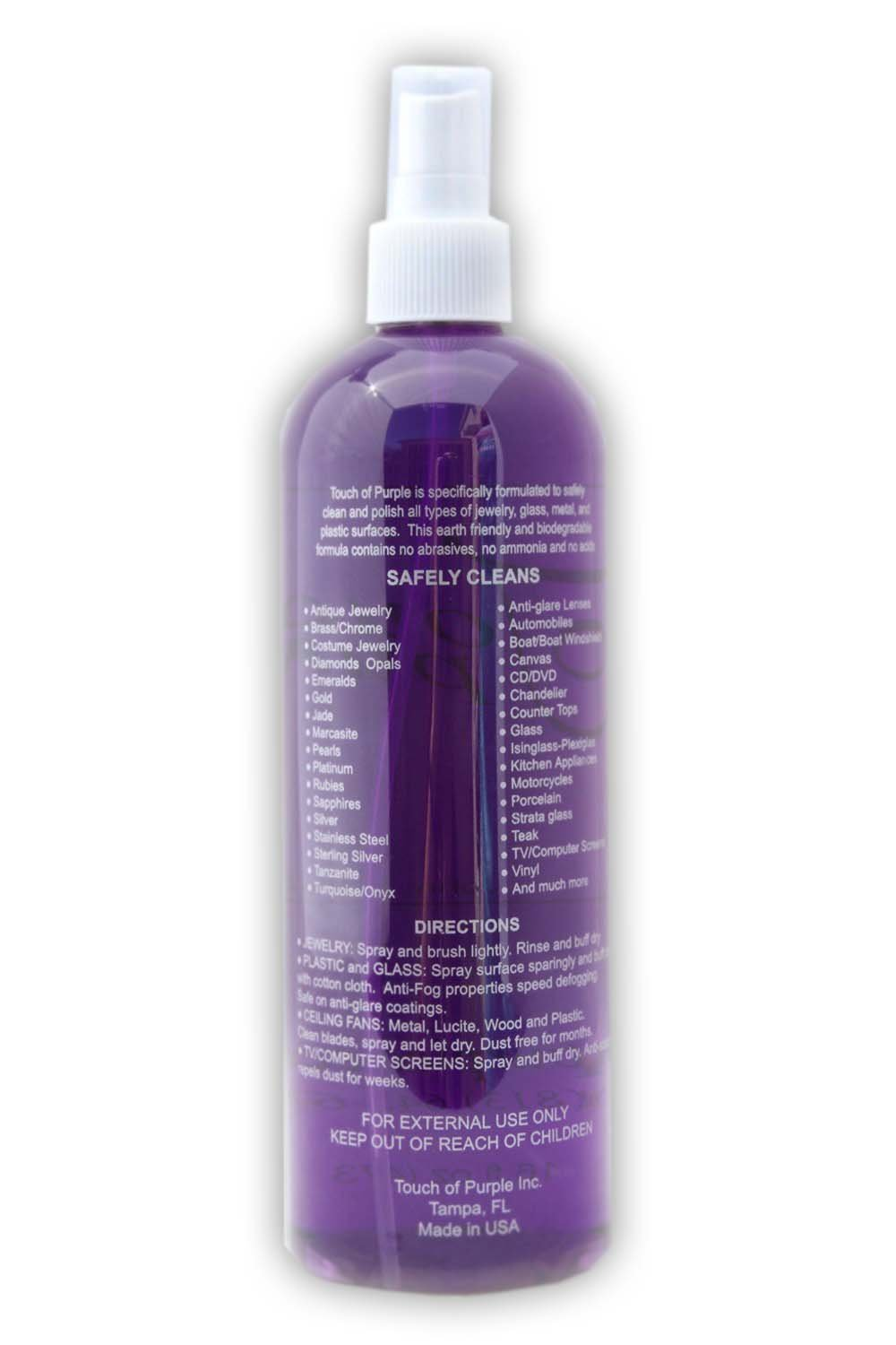 TOP Purple by Touch of Purple 32 Ounce Refill & 2 Ounce Spray Bottle