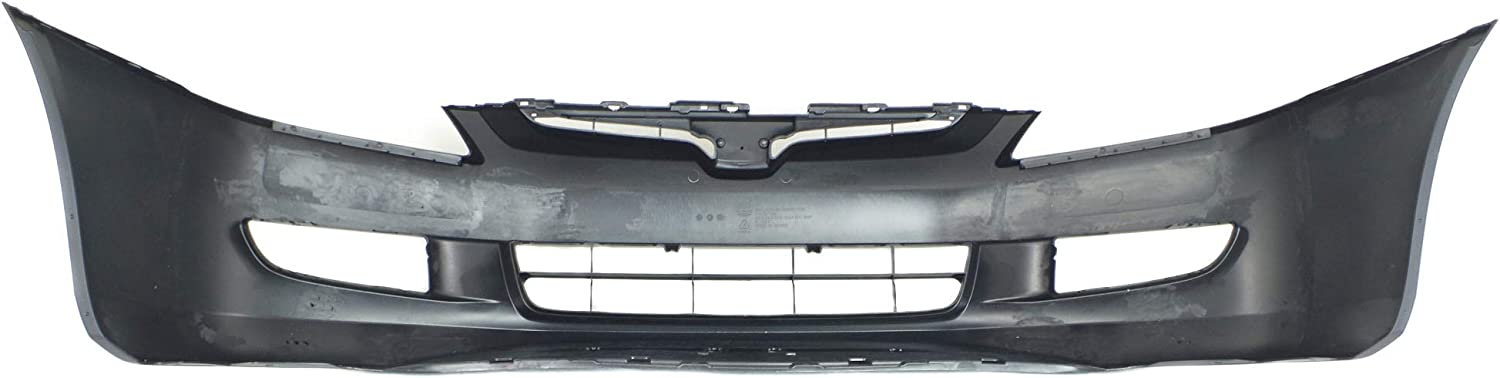 Front Bumper Cover Compatible with HONDA ACCORD 2003-2005 Primed with Fog Light Holes 6 Cyl Manual Transmission 6 Speed Coupe