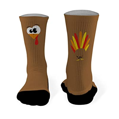 Goofy Turkey Printed Mid Calf Socks | General Sports Socks by ChalkTalkSPORTS | Multiple Sizes