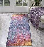 Nourison PSN09 Passion Colorful Bohemian Area Rug, 1'10'' x 6' , Multicolor