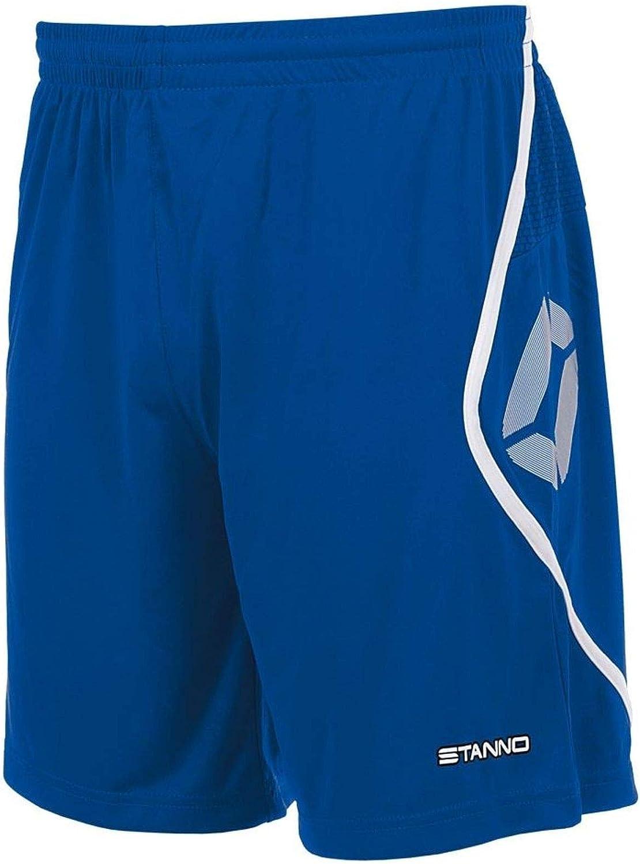 TALLA M. Pantalones cortos StannoPisa, color azul y blanco
