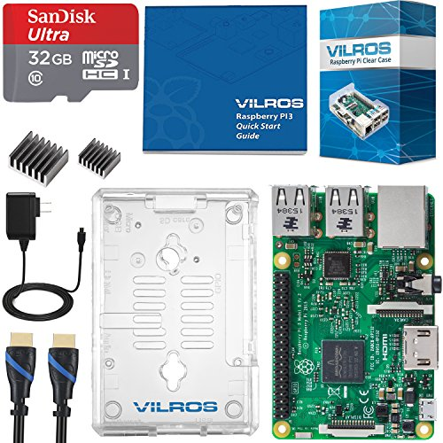 Vilros Raspberry Pi 3 Complete Starter Kit with Clear Case and 32GB SD Card