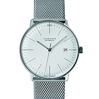 Junghans Reloj - Max Bill - Automatic Date - Milanaise: Amazon.es: Relojes