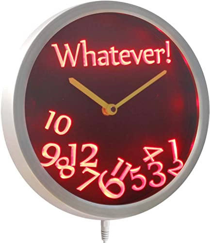 ADVPRO nc0464-b Whatever Time Bar Beer Retire Gift Decor Neon LED Wall Clock