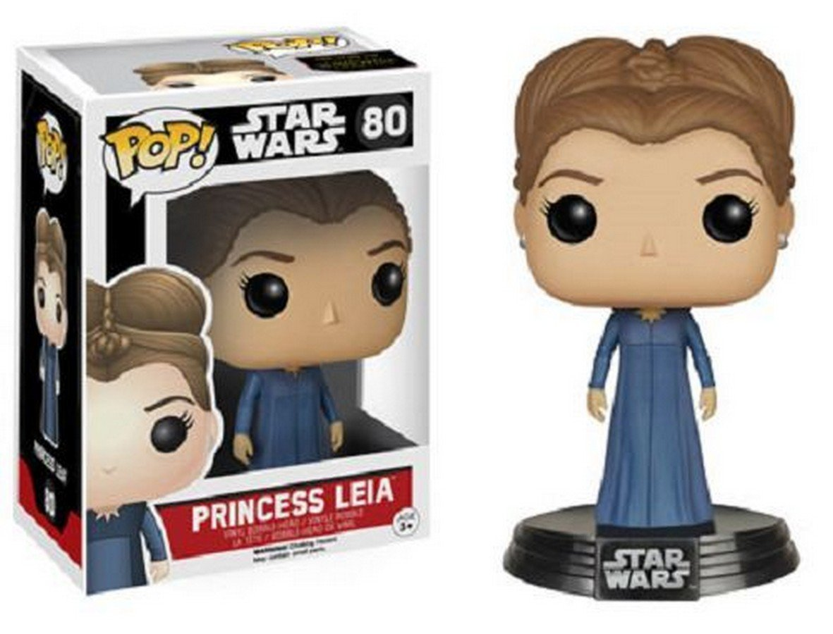 Princess Leia Pop Star Wars 7 The Force Awakens Vinyl Bobble Head