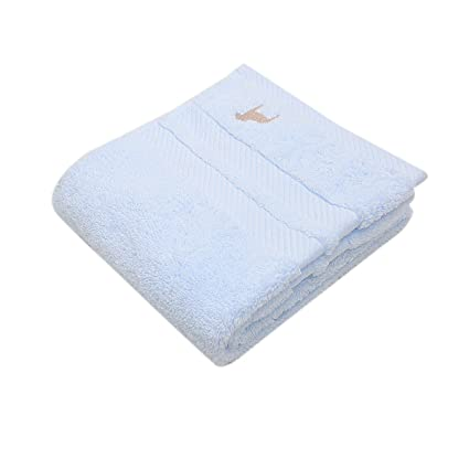 mmynl toallas de algodón grueso/algodón lavar cara limpieza toalla azul claro 75 x 35