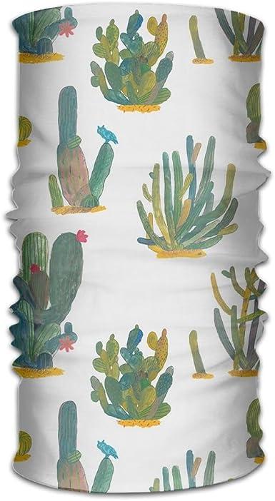 Headwear Headband Cactus Illustration Head Scarf Wrap Sweatband Sport Headscarves For Men Women