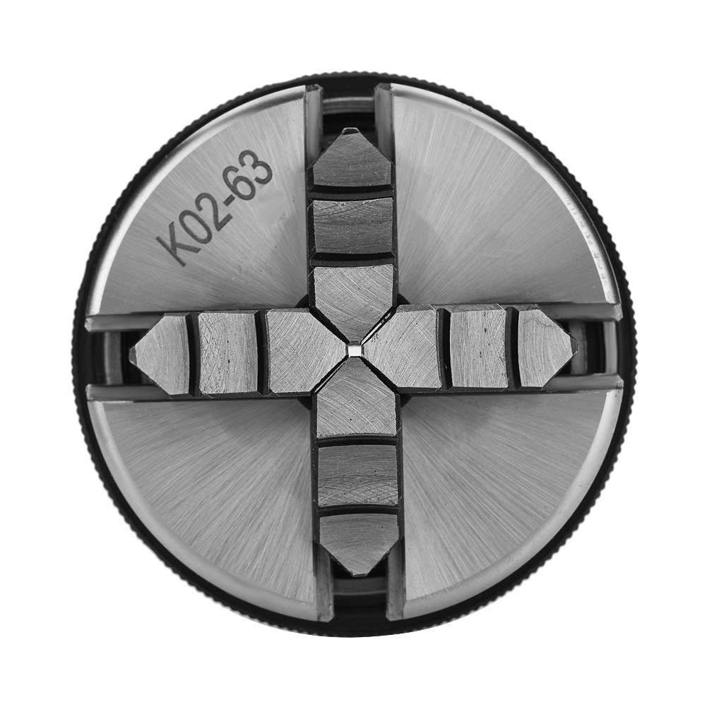 Mandril de torno manual de autocentrado de 4 mordazas para trabajar la madera con alta precisi/ón de centrado Gran rango de sujeci/ón